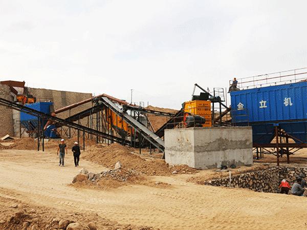 环保型350吨石料生产线